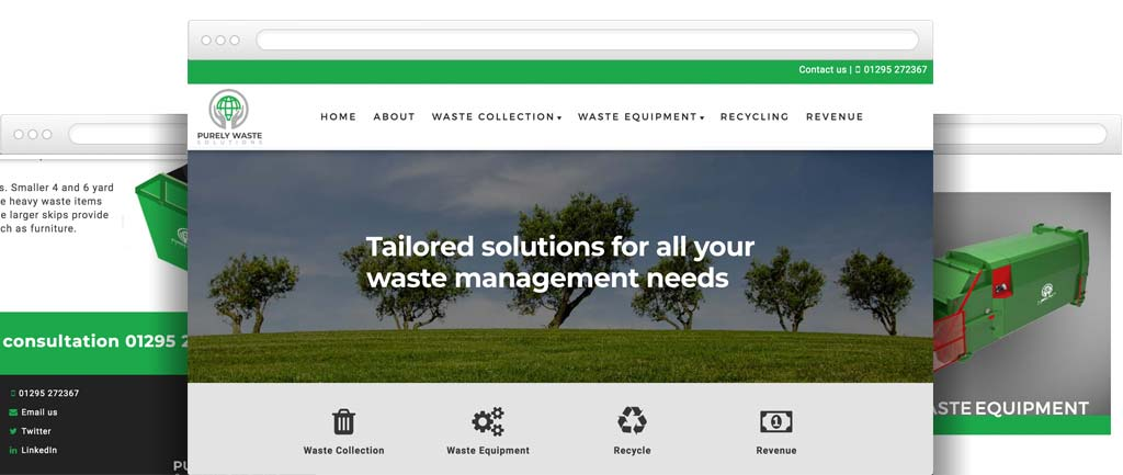Recycling and waste disposal website design