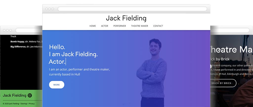 Web design for actors
