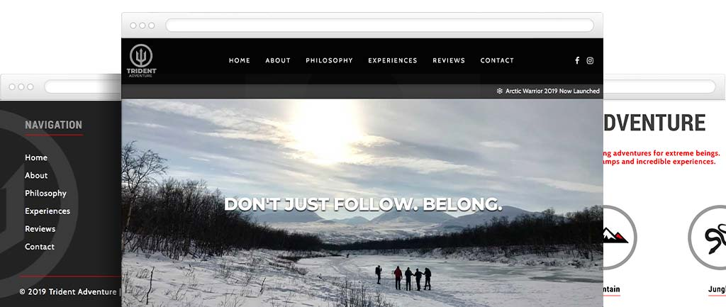 Adventure web design
