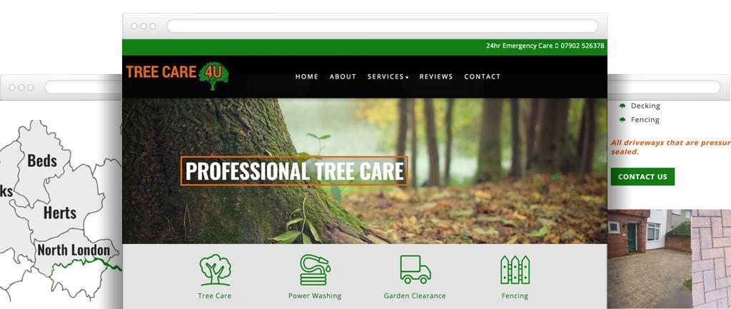 Tree care website design