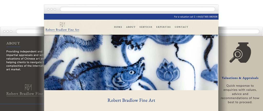 Fine art and antique website design