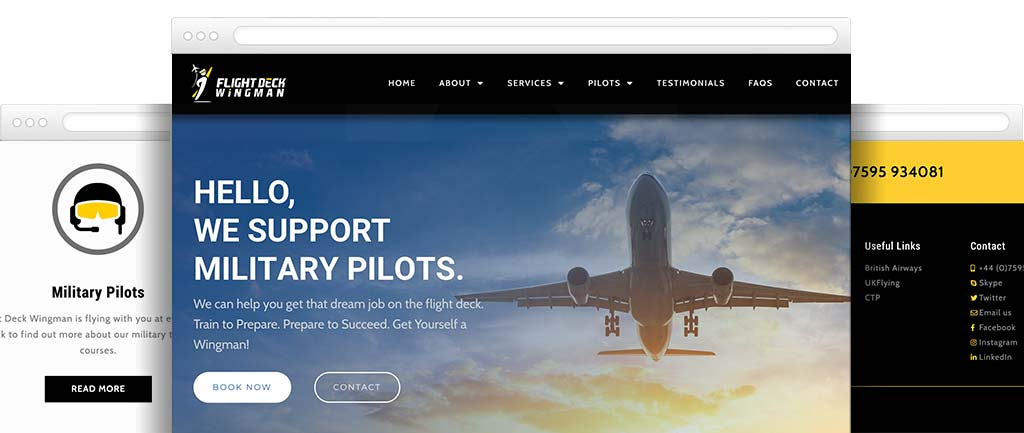 Aviation website designer