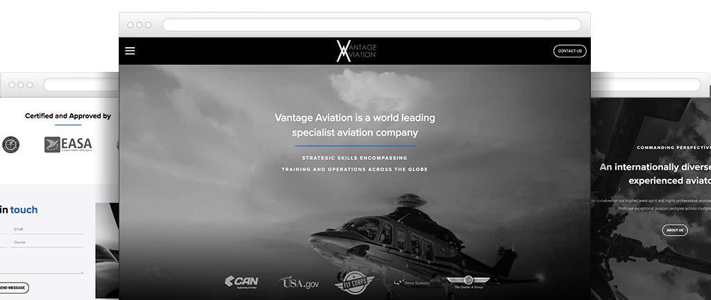 Aviation web designer