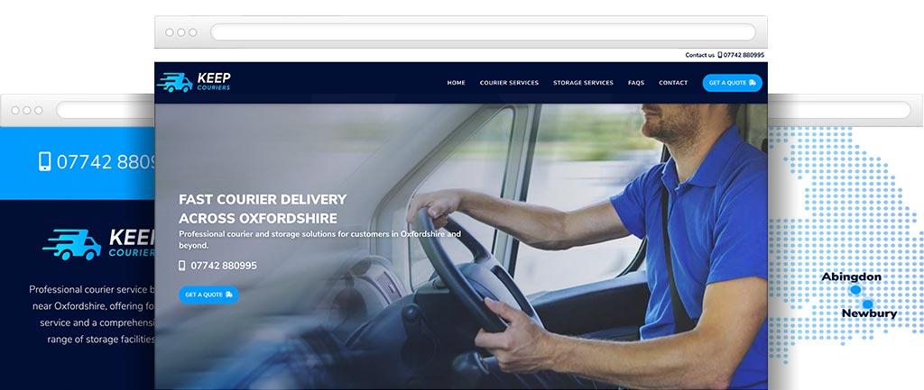 Courier and storage website design