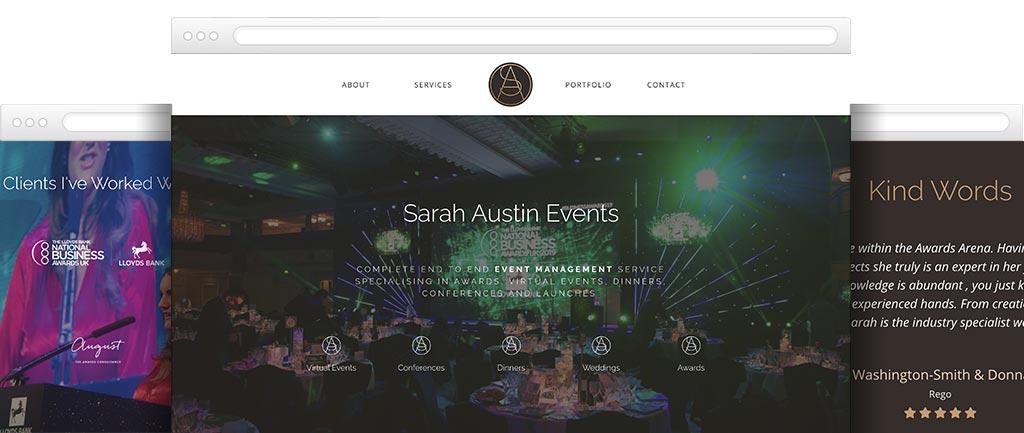 Event Consultancy website design