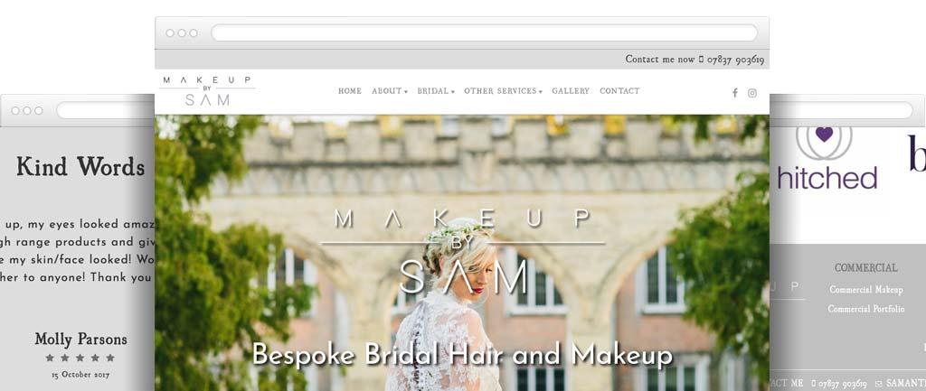 Bridal makeup artist web design