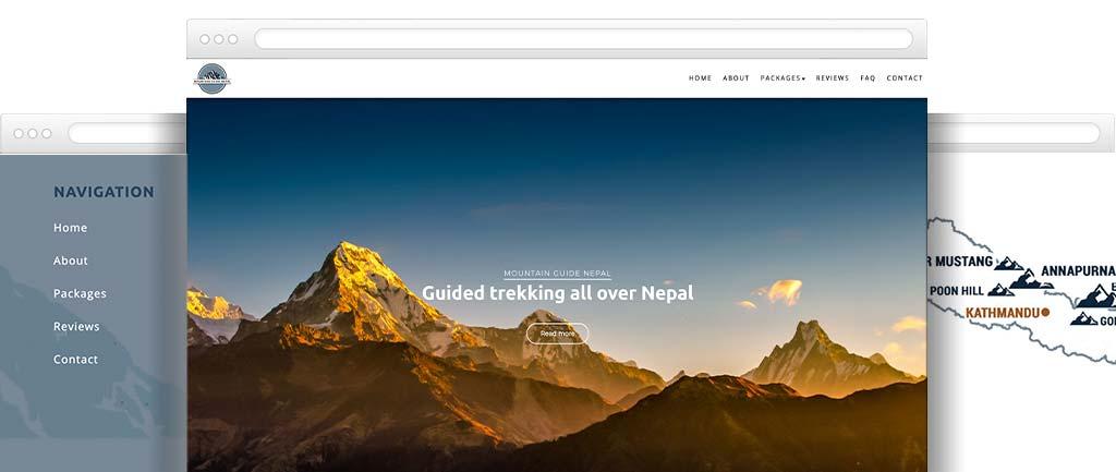Mountain guide website design
