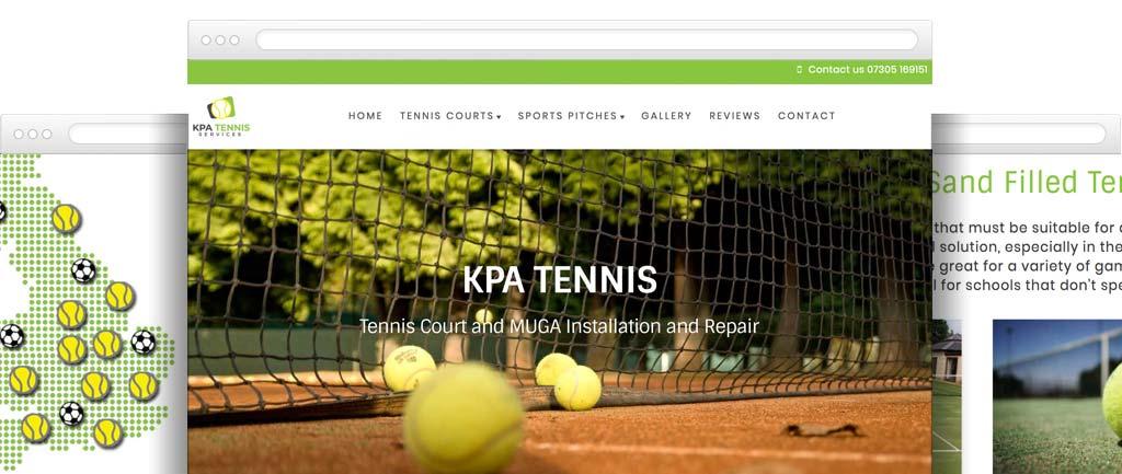 artificial lawn and tennis court installer website design