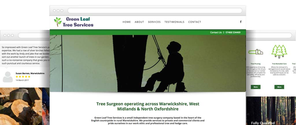 Arborist website design