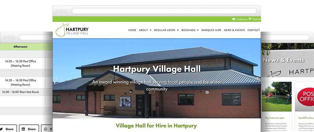 Village hall website design